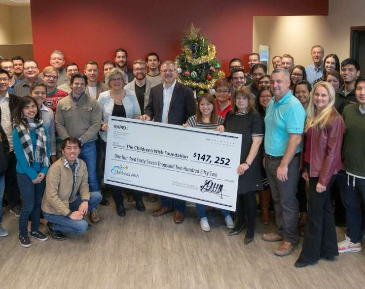Staff At Winnipeg's RAPID RTC Delivers Record Donation With $147,252 Contribution